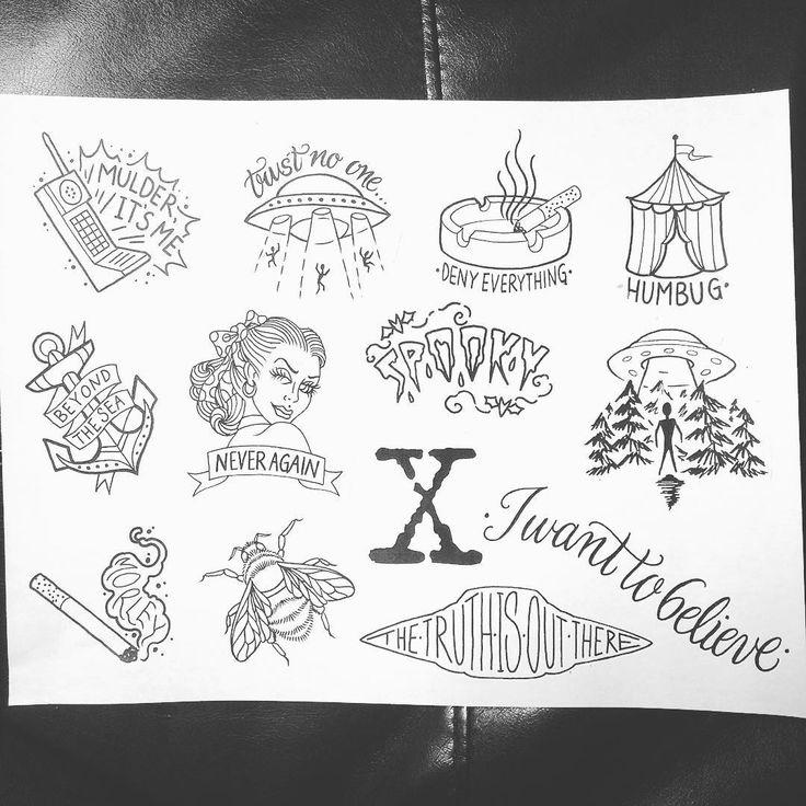X Files Tattoo Ideas: Best 25+ Tattoo Flash Ideas Only On Pinterest