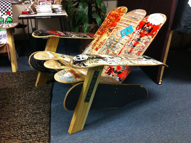 1000 images about things for branden on pinterest for Skateboard chair plans