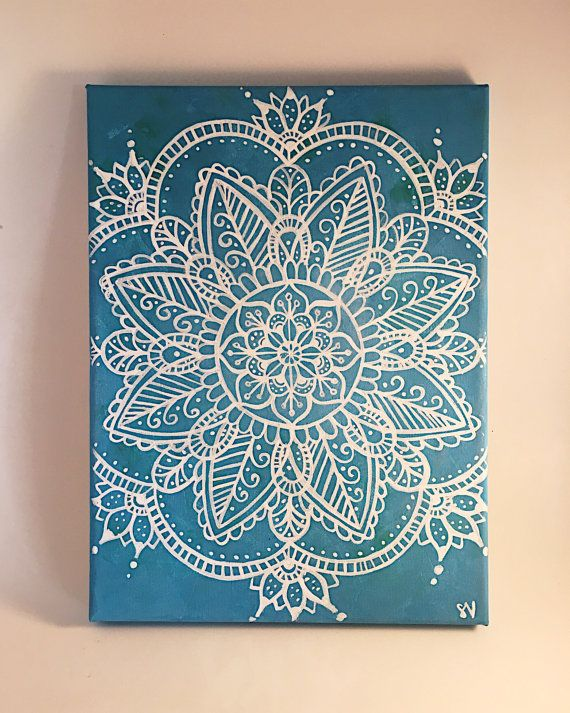 Mandala Canvas schilderij Wall Art muur kamer Decor