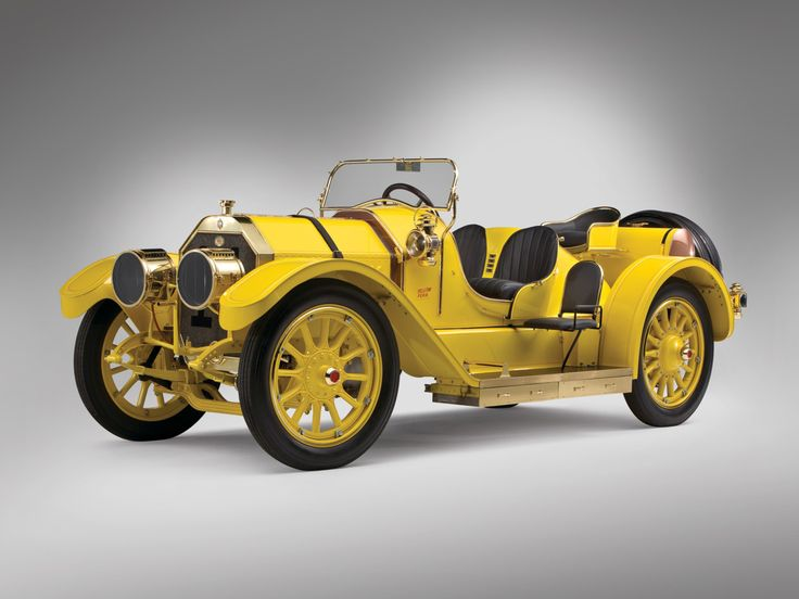 1911 Oldsmobile Autocrat Racing Car. Yellow looks great on these older spoked cars.