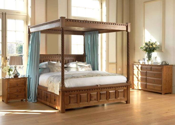 With its effortless elegance, the fine looking wooden four-poster bed brings warmth and style to your home. Looking to rural Ireland for its inspiration, the four-poster County Kerry is a big bed, but not too weighty to dominate a medium bedroom. And, like all Revival Beds, it's been completely handcrafted from scratch using the same time-honoured techniques we've been using for well over 30 years. #traditionalbedroomdecor