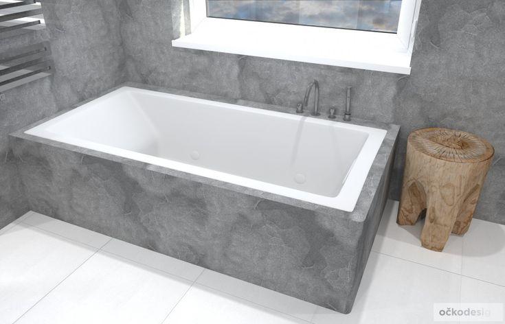 Prostorná vana pro relax dospělých a pro hru malých obyvatel domu