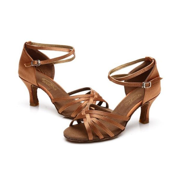 Hot-Selling New Girls/Women's Ballroom Latin&Tango Dance Shoes heeled Sale Promotion Wholesale 6-color two kinds of high heels