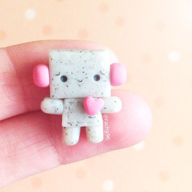 Hey everyone! ☺ I made this little robot guy inspired by @cakerollcat!  Also, thank you so much for 8k+  You guys are super amazing!!  Anyway, hope you like it! ✌ #polymerclay