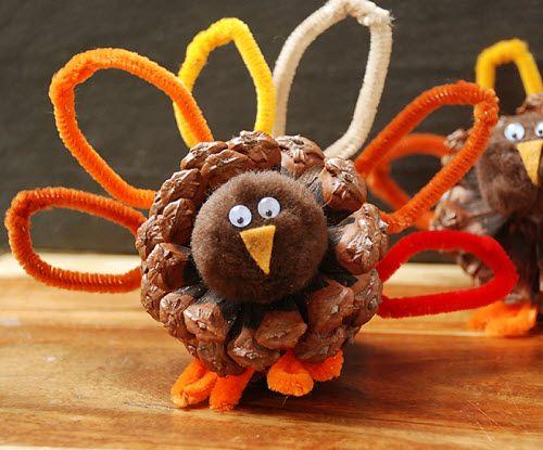 pinecone turkey...fun thanksgiving craft