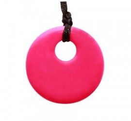 MummaBubba Jewellery - Teething Pendant - Hot Pink