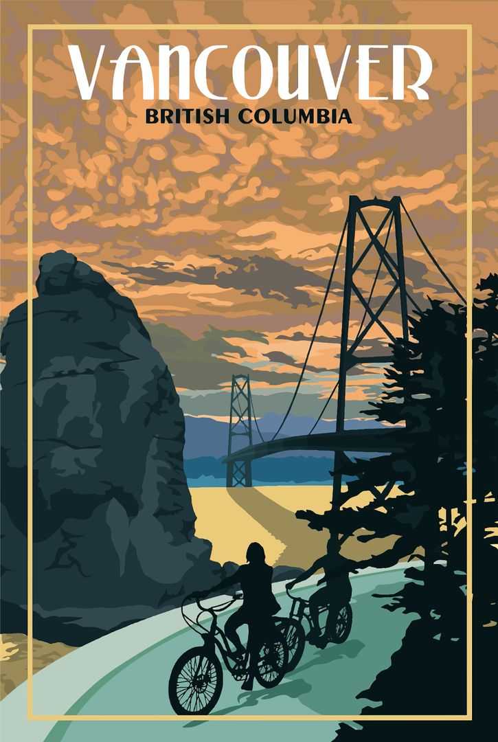 Vancouver Bc Vintage Travel Poster Etsy Vintage Travel Posters Retro Travel Poster Travel Posters