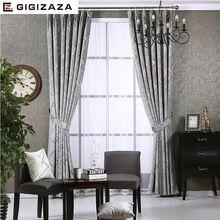 Newchenille жалюзи жаккардовые ткани занавес для гостиной серебряный GIGIZAZA black out нестандартного размера тени американский стиль для спальни(China (Mainland))