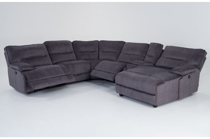 Pacifica Power Reclining 6 Piece Left Arm Facing Sectional | Bob's Discount Furniture