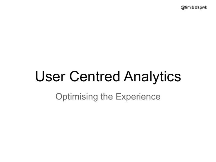 User Centered #Analytics #SPWK