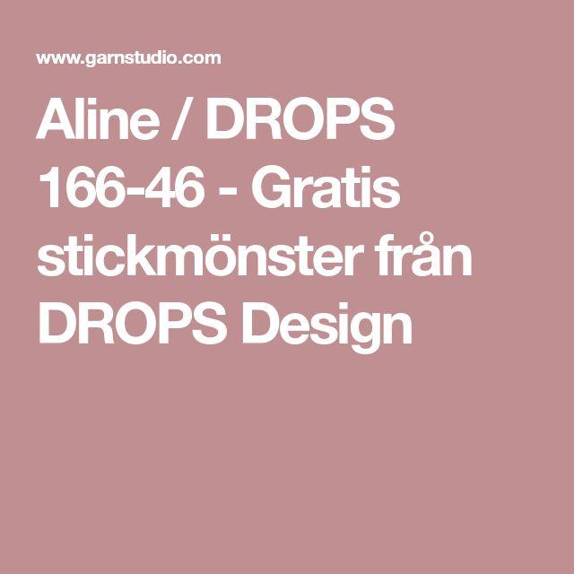 Aline / DROPS 166-46 - Gratis stickmönster från DROPS Design