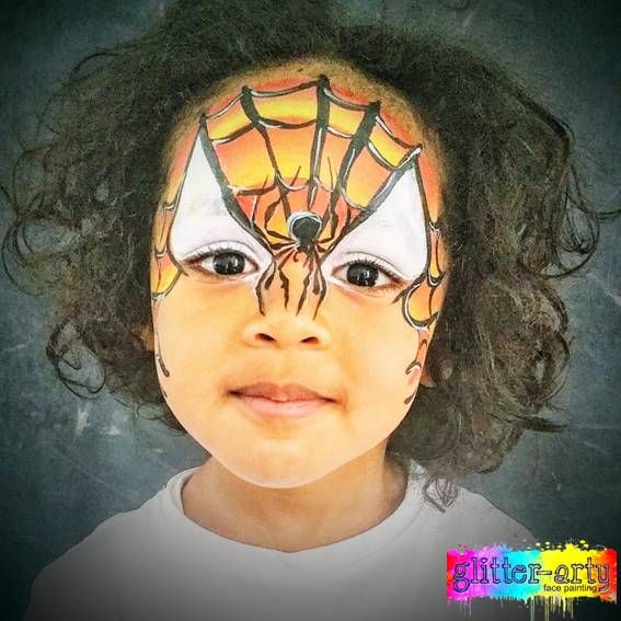 One Stroke spiderman face painting by Glitter-Arty Face Painting, Bedford Bedfordshire