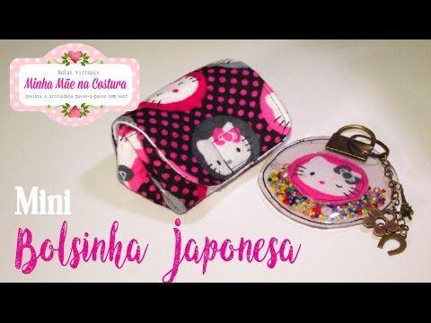 Mini Bolsinha Japonesa e pingente chaveiro transparente | Minha Mãe na Costura - YouTube