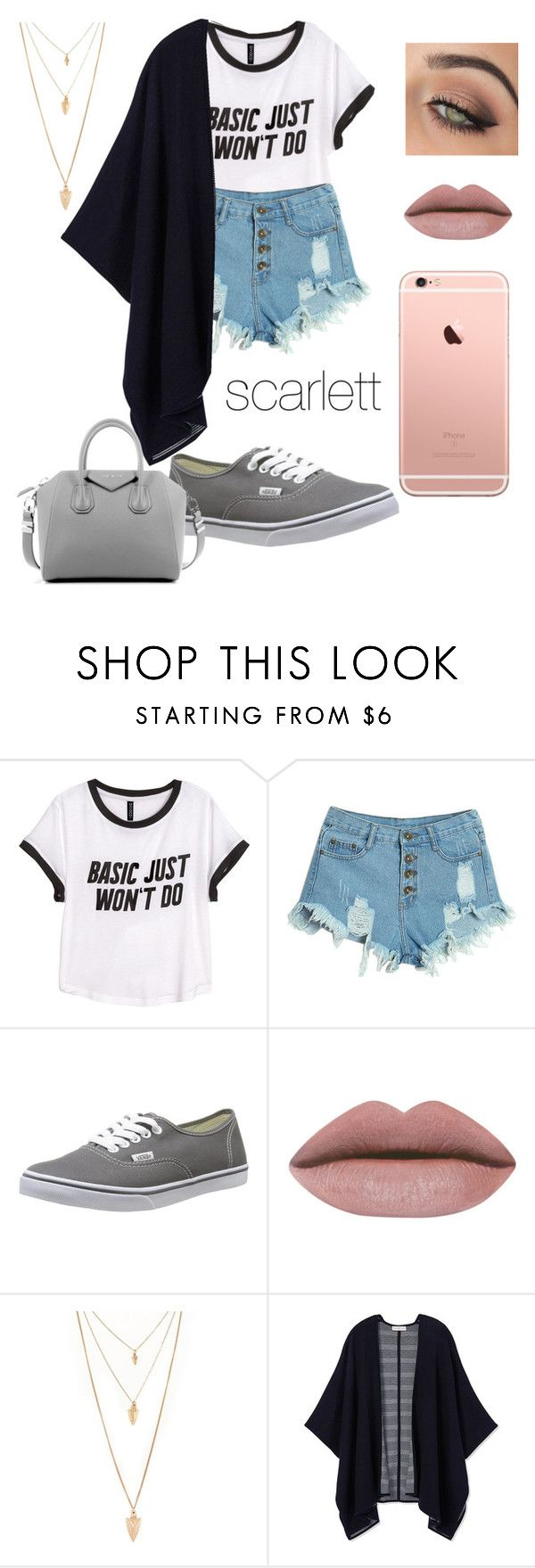 """wattpad story outfits"" by lauraederveen on Polyvore featuring H&M, WithChic, Vans, tarte, Forever 21, Tory Burch, Givenchy, women's clothing, women and female"