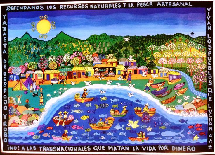 'Recursos naturales', Beatriz Aurora / EZLN, pintura, arte zapatista, zapatista movement