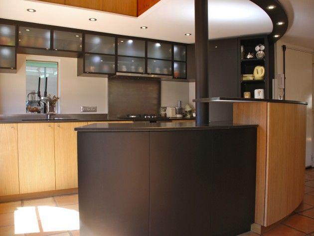 11 best Cuisine en bois images on Pinterest Kitchen modern, Wooden - rampe d eclairage pour cuisine