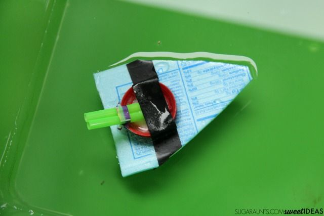 how to make a stem boat with bottle