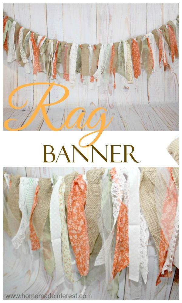 Easy to make, but oh so whimsical! Rustic Rag Banner {www.homemadeinterest.com}