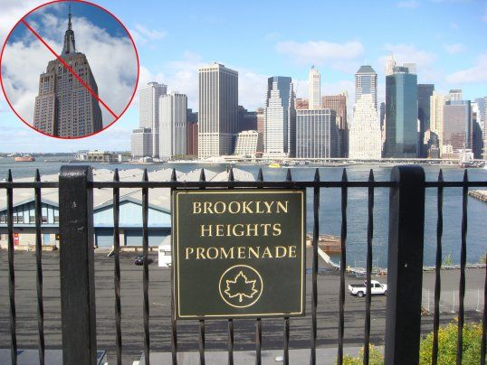 brooklyn heights promenade not empire state building