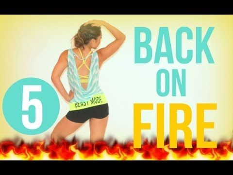 Back on Fire | POP Pilates - YouTube 13 mins- fire is an accurate description here...