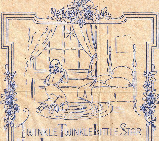 Betty Burton Twinkle Twinkle Little Star Transfer by The T-Cozy, via Flickr