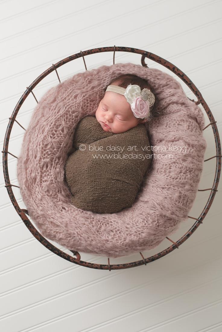 "Like the ""aerial view"" - Newborn girl photography portraits  Springfield IL Newborn Photographer | Blue Daisy Art"