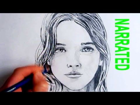 How To Draw A Female Face Step By Step - Draw Central