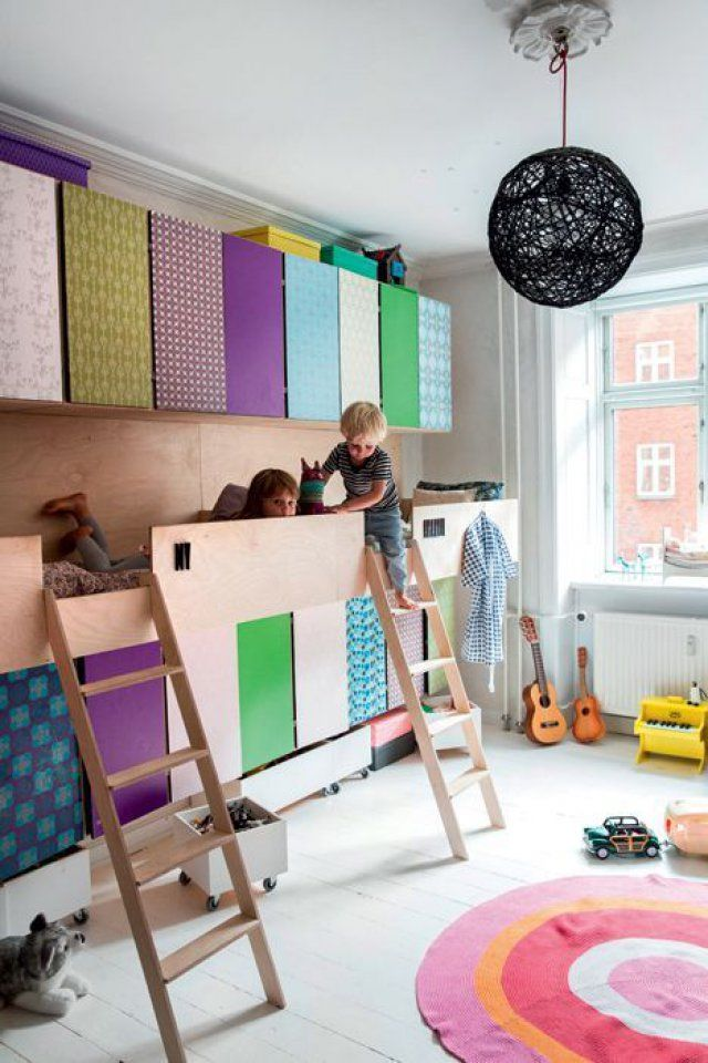 Des lits et des rangements symétriques - Marie Claire Maison