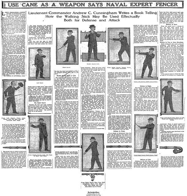 Victorian Self Defense  NYT_1913_Use Cane as a Weapon