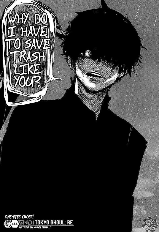 "TG:re Vol. 6 Ch. 55 - Kaneki and Eto ""Why do I have to save trash like you?"""