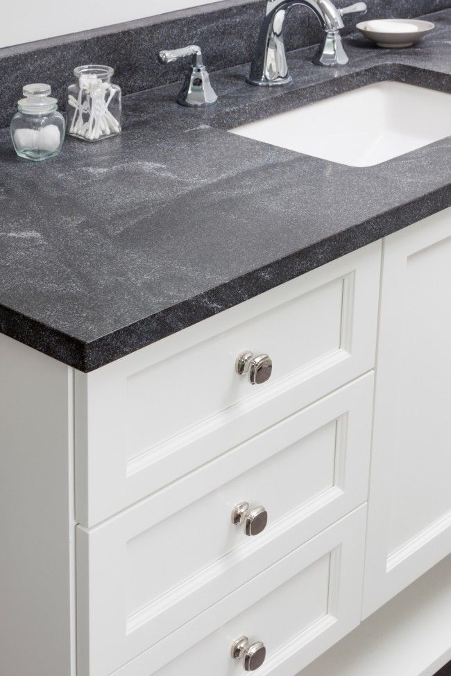 Honed Granite Countertops by Design Manifest- soapstone look without the hassle