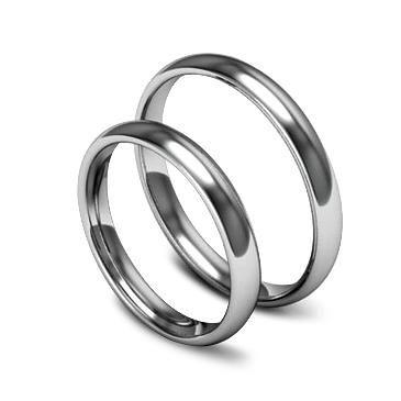 Классическое обручальное кольцо шириной 3 мм из палладия, артикул W53PD
