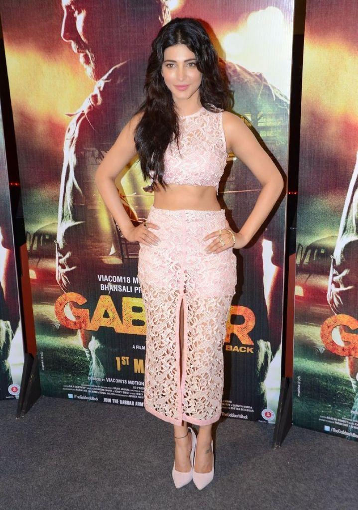 Shruti Haasan - Film 'Gabbar Is Back' Trailer Launch : Indian Celebrtities (F) FunFunky.com