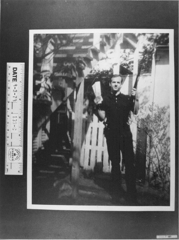 Lee Harvey Oswald's Russian wife Marina took these photos in the backyard of their house on Neeley Street in Dallas  Sunday, March 31, 1963 via reddit [[MORE]]  Lee Harvey Oswald holding two left-wing newspapers The Militant and The Worker which are dated March 11 and March 24. In addition to the two papers, Oswald is holding a rifle, and has a .38 caliber revolver strapped to his waist.