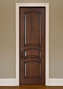 Interior Custom Mahogany Wood Door - Single - Solid Wood Mahogany