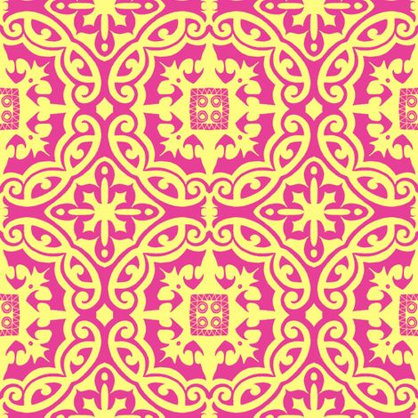 mellow yellow on pink fabric by reen_walker on Spoonflower - custom fabric