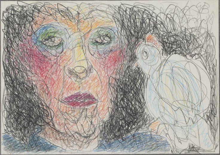 Self-portrait with Bird - Geta Bratescu