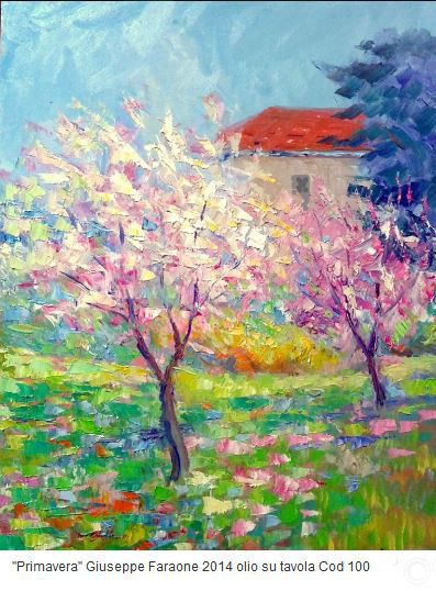 """Primavera"" Olio su tavola 50x35 - Codice 100"