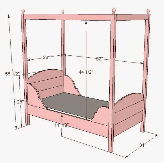 Pallet Canopy Bed.  #pallets  #diy  #bed  #bedroom
