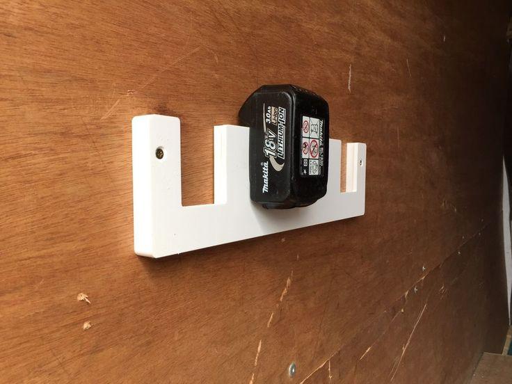 Makita 18v Battery Rack, Holds 5 Batteries. tool racking for mounting in the Van