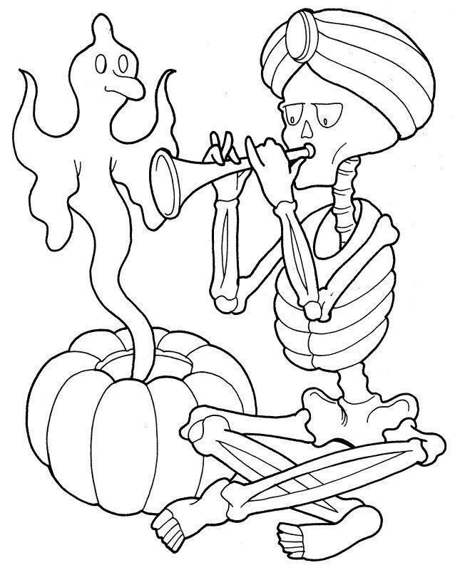 Halloween Coloring Pages   Skeleton.
