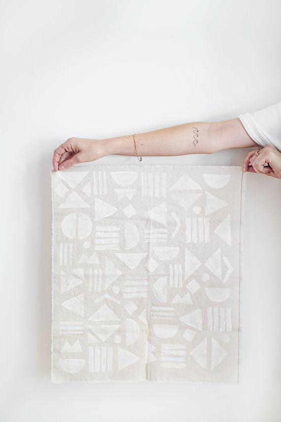 diy block printed napkins | almost makes perfect