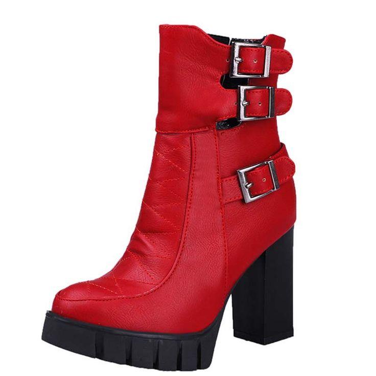 Купить товарЗимний отдых платформы круглый носок толстых пятки ботинки женщин новинка ботинки от стадо твердые ботинки в категории  на AliExpress.        ENMAYER new  women Knee-High boots Round Toe platform zip High snow boots for women fashion winter wedding long b