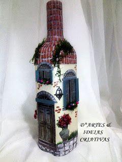 D* ARTES & IDEIAS CRIATIVAS.: Garrafões e garrafas.