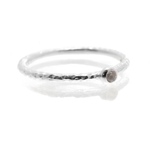 Lily ring in sterling silver with Smokey topaz stone - $50 www.toriandtaz.com