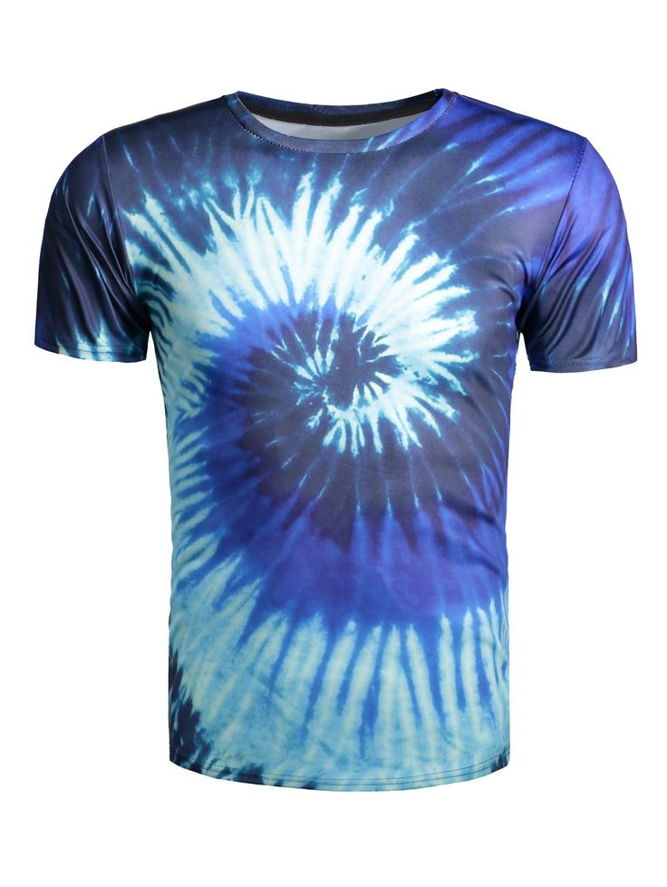 Color Block Vortex Print Short Sleeve T-Shirt #jewelry, #women, #men, #hats, #watches, #belts, #fashion