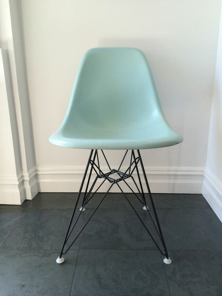 Vintage Robins Egg Blue Eames Herman Miller Side Shell Chair. Eiffel Tower  DSR