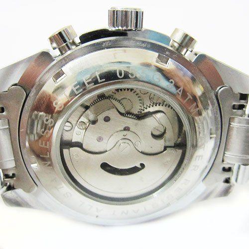 Роскошный 3 суб-набор автоматическая механические мужские серебряные часы