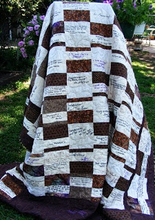 Coloradolady: Wedding Guest Book Quilt Finished