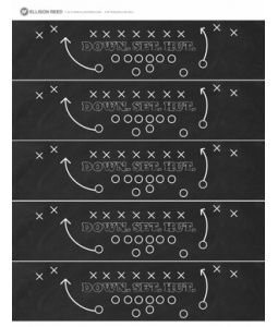 Free Football Drink Wrap Printable by Ellison Reed - these are great for an OU football game watch party or tailgate!  The would look just as great on beer bottles or cans!